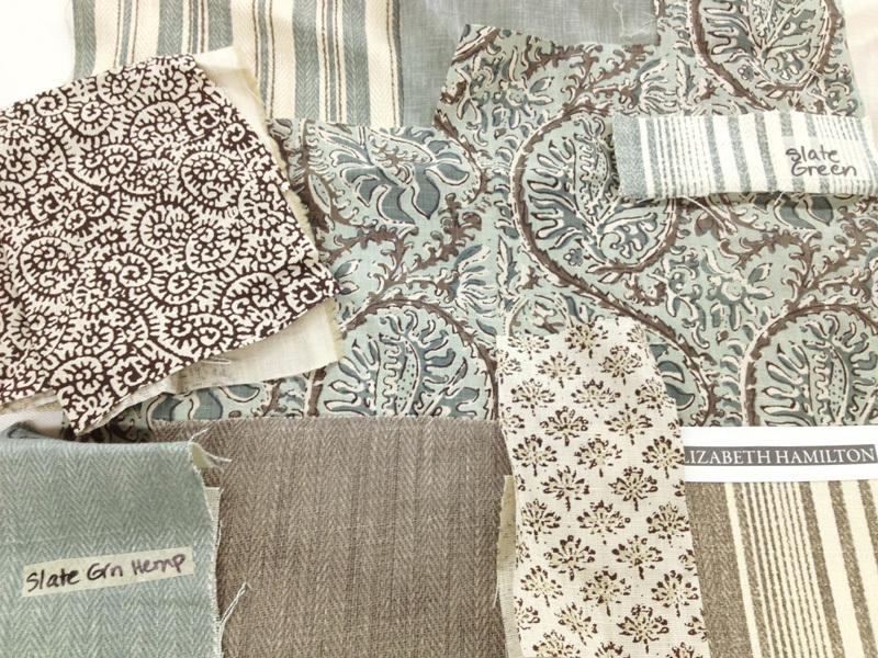 Slate Green Fabric scheme