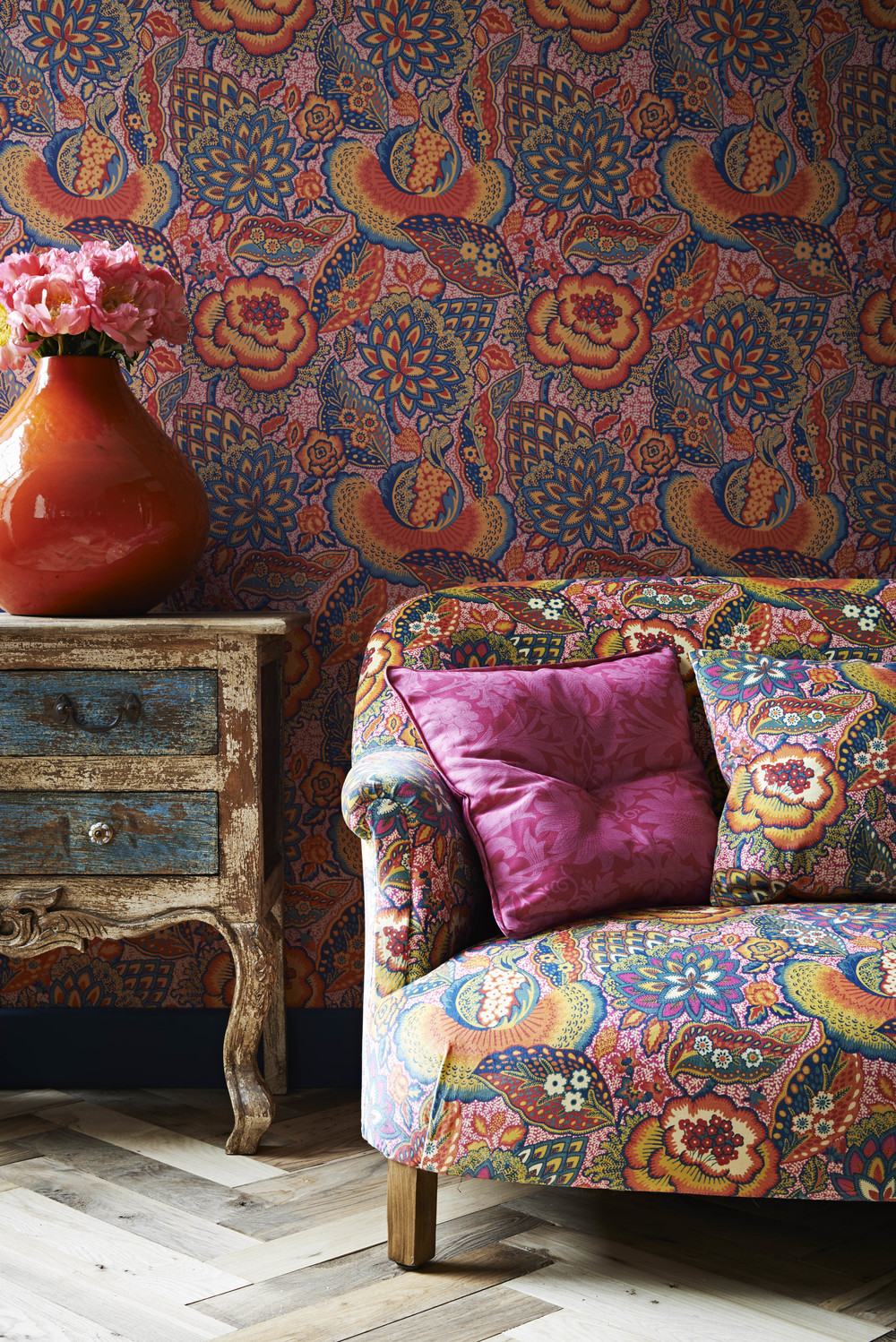 The Jubilee Collection - Liberty Art Fabrics Interiors_Patricia Velvet Spice and Patricia Spice Wallpaper.jpg
