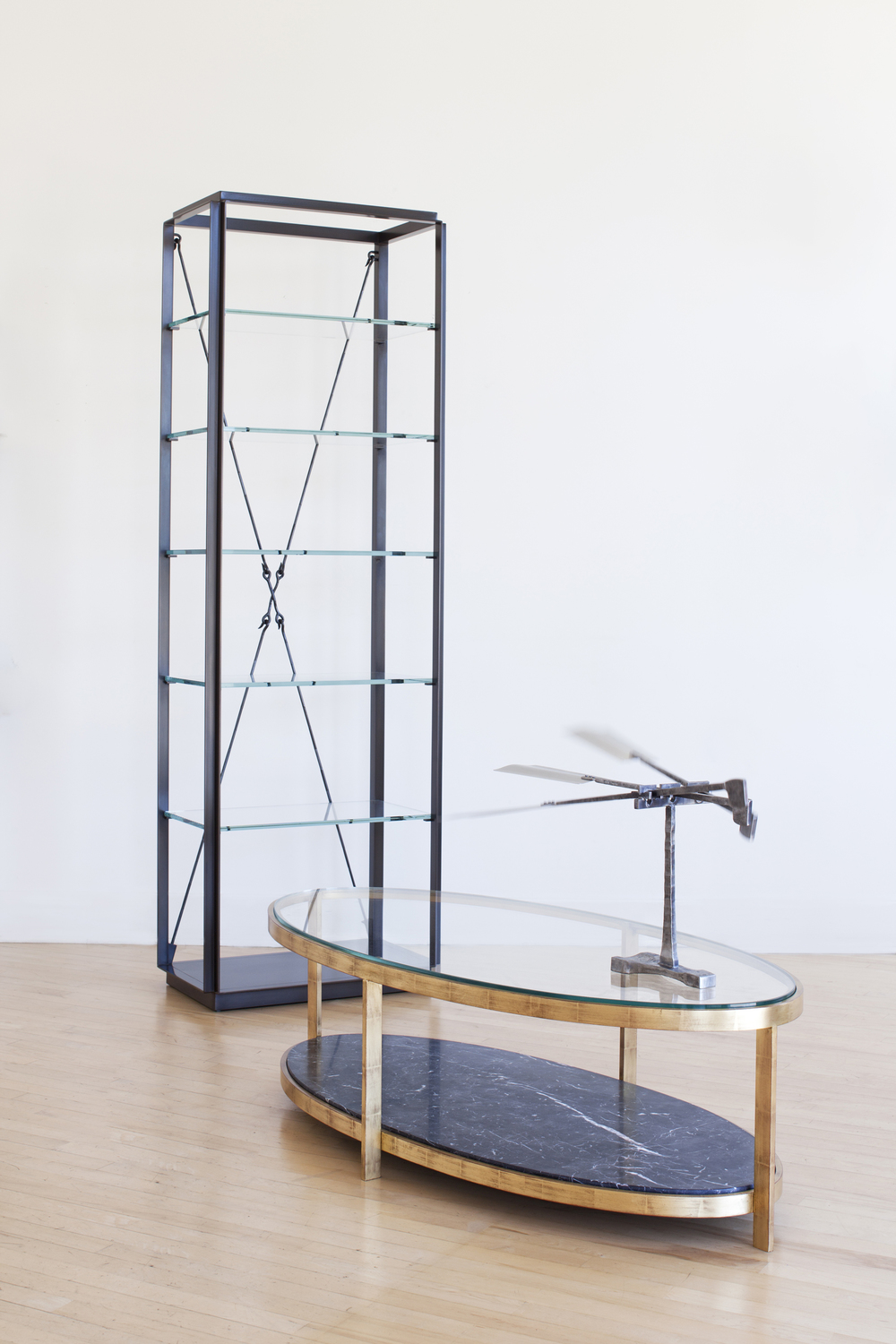 Diamas Etagere and Renzo Elliptical Coffee Table.jpg