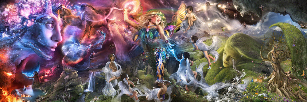 "REBIRTH of GAEA  (Dec 2012)  up to  108"" x 36"" // Metallic Chromogenic Print"