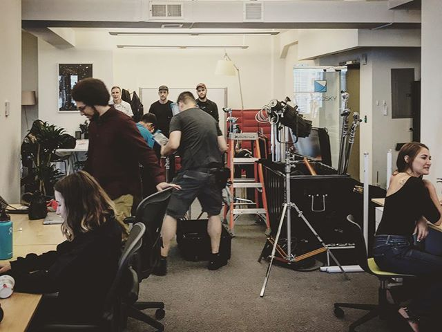 Film shoot day! #adayinthelife #officetakeover #tech #startup #salesforce #dreamforce