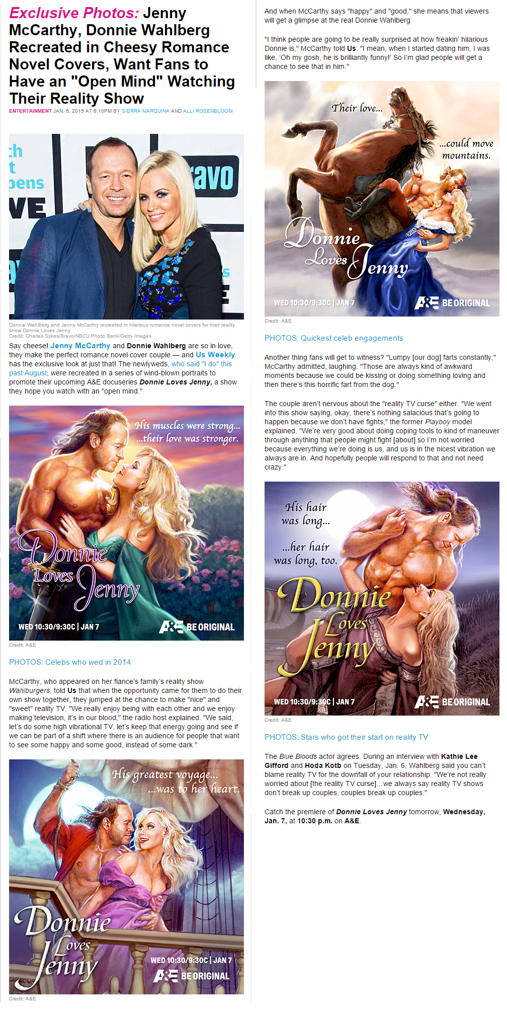 Donnie Loves Jenny Romance Novel Covers — Outlines Inc.