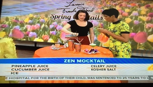 """Make the 'Tam-Tini Champagne cocktail for spring,"" The Today Show, April, 2015"