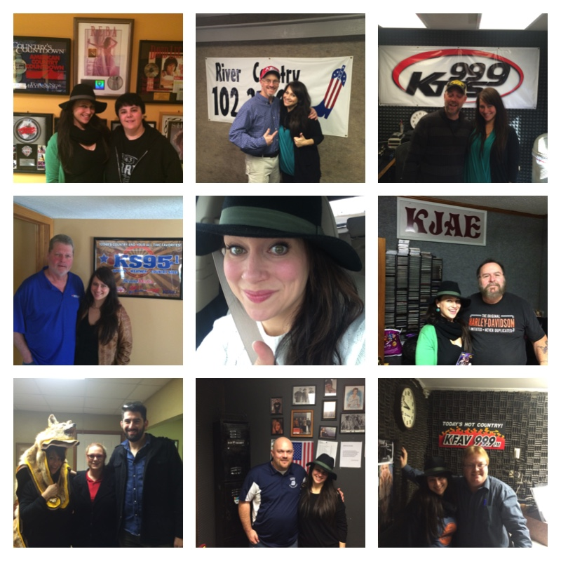 January Radio Tour Collage