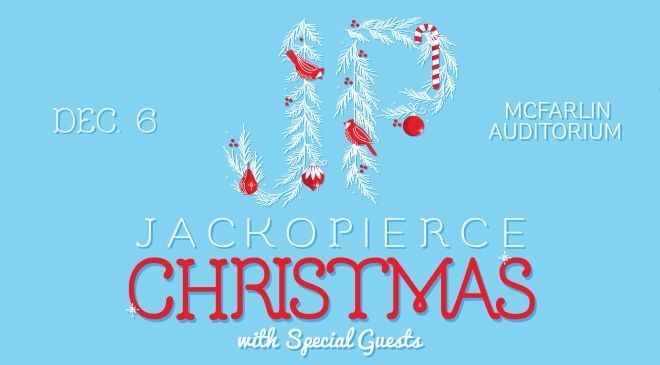 Join us with Jackopierce and lots of other special guests at the McFarlin Auditorium in Dallas Sunday Dec 6!  Tickets available  here!