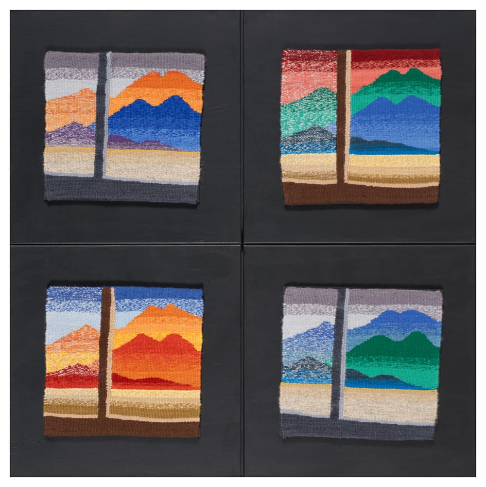 Martita's Window (quadtych) Permanent Collection.  University of New Mexico Hospital. Albuquerque, New Mexico