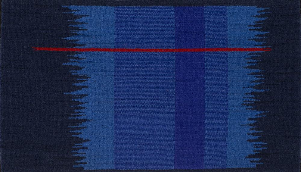 """Blue Notes Phase V   16"""" x 28""""  1,030."""