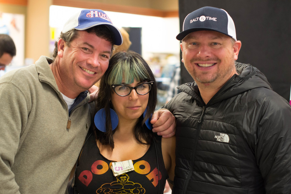 Producer Jason Netter, 2nd AD Michelle Millette & line producer Patrick Stapleton on our last night of shooting in Texas