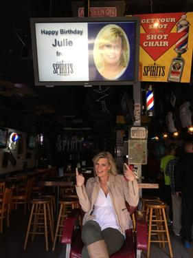 "Happy Birthday Julie from Spirits On Bourbon. ""Digital signage is about marketing, Ohren says. Click on the image above to see more about this marketing opportunity. This could work for you."