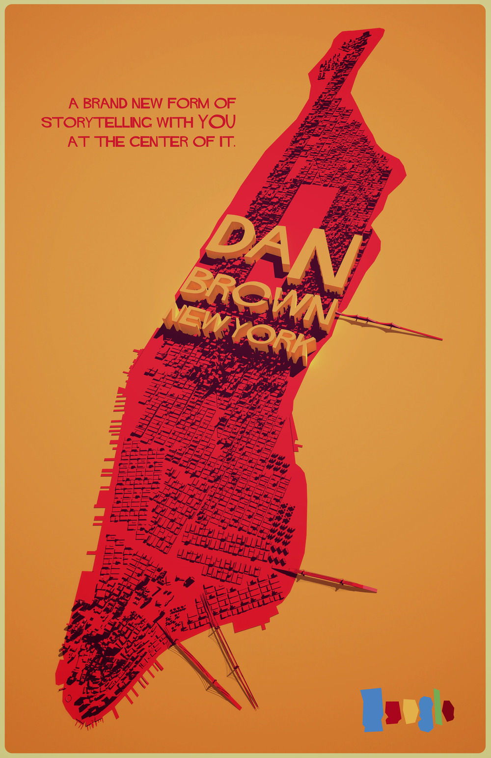 dan brown new york poster design chris carmichael