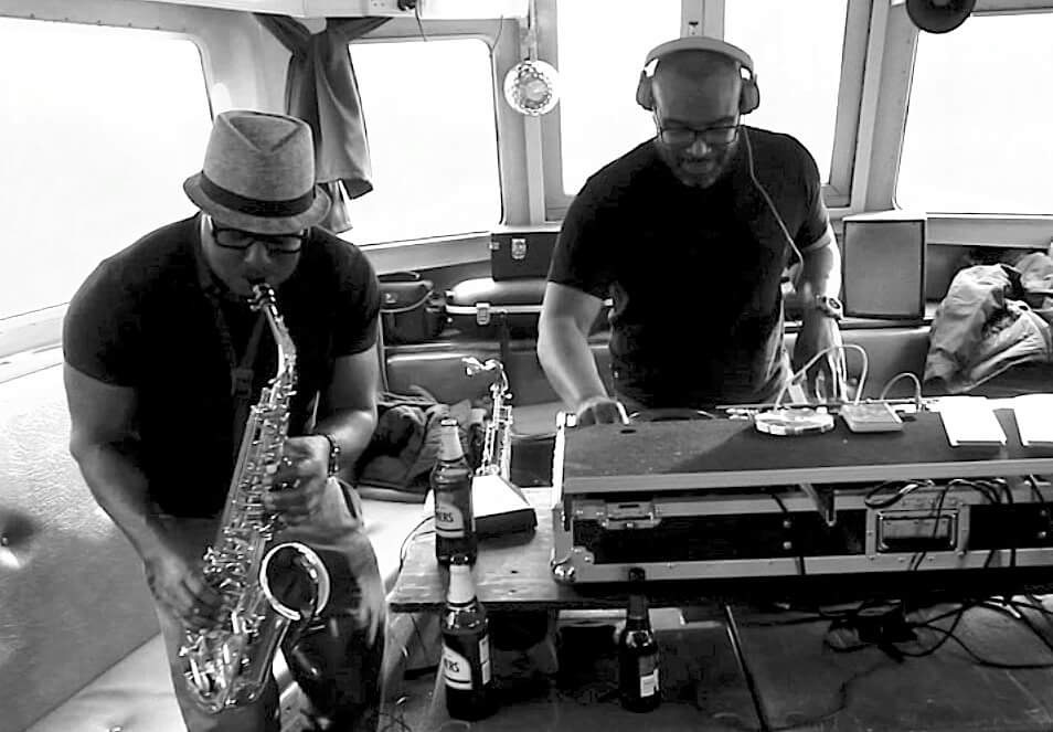 Tony Nanton (right) and Otis Lawrence  - HouseWurK Boat Party, Oxford