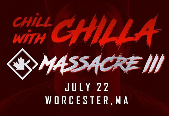 #ChillWithChilla @ #Massacre3 - All you have to do is purchase a tshirt, hoodie or hat from Chillajones.com between now and July 7th to be automatically entered to win. Winner will get 2 tickets to #Massacre3 , a bunch of Chilla Jones Merch, Autographed KingPen Hat and a chance to hang out with Chilla Jones prior to the event. You might even get a sneak peek at his rounds for #LilMac !!! Use Promocode: LILMAC10 for a discount on purchases! More details on the website www.ChillaJones.com