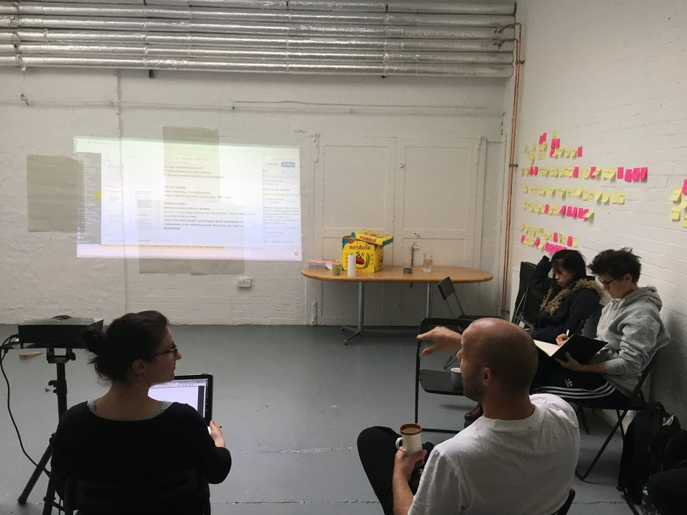 First workshop for Feminist Data Set, SPACE Art and Technology, October 2017