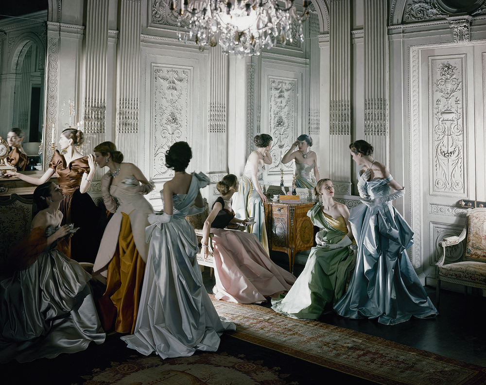Charles James was known for his sexy silhouettes, massively architectural gowns, and his elite party loving nature.