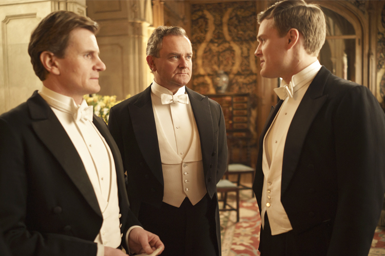The men of Downton Abbey show you whats-what when it comes to white tie.
