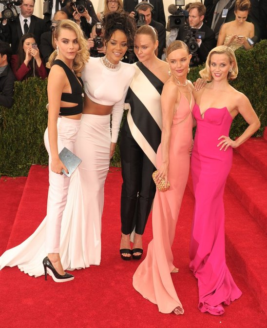 Team Stella on the red carpet at this year's Met Gala.