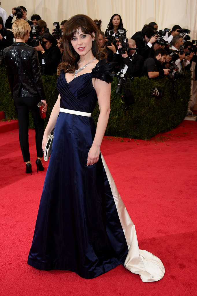 Zooey Deschanel in Tommy Hilfiger...you can't tell me she loved this dress...