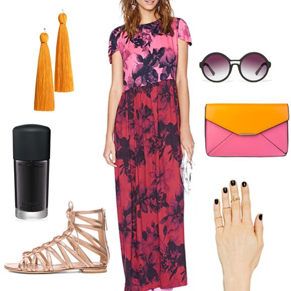 vibrant feminine summer outfit