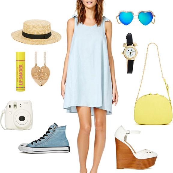 playful fun summer outfit