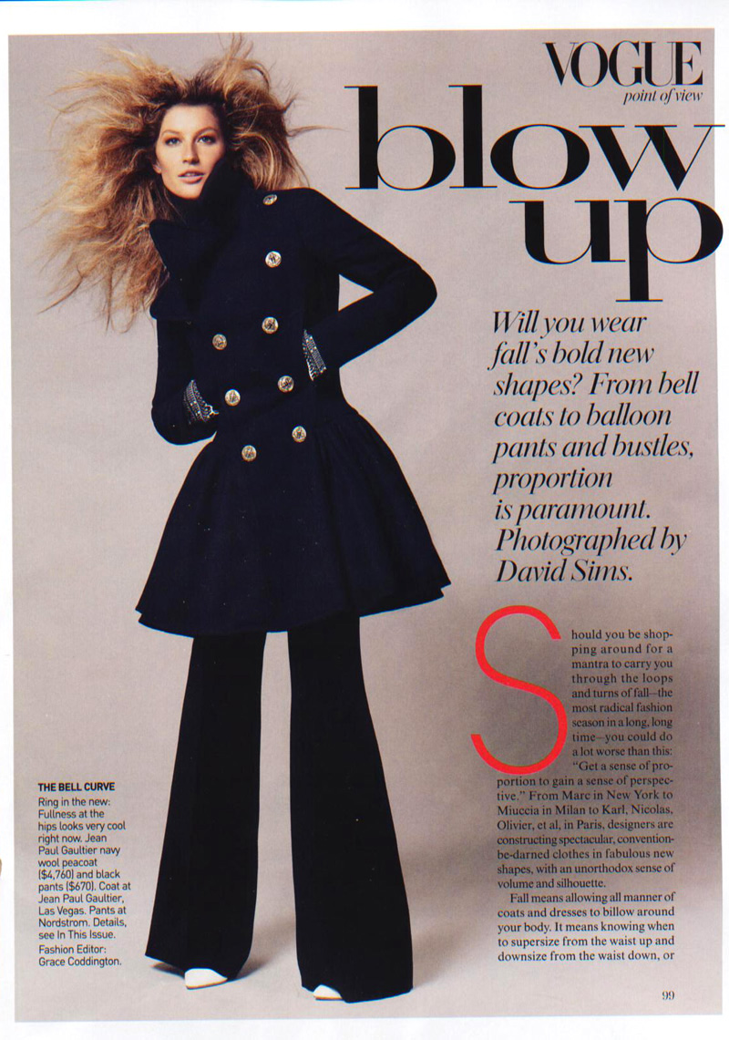 Gisele Bunchen American Vogue july 2006 blow up