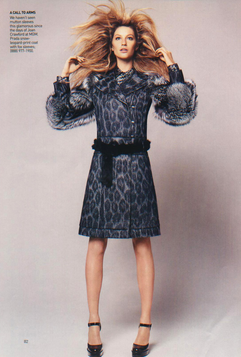 American Vogue // July 2006 // Photographer: David Sims // Fashion Editor: Grace Coddington  // Model: Gisele Bundchen