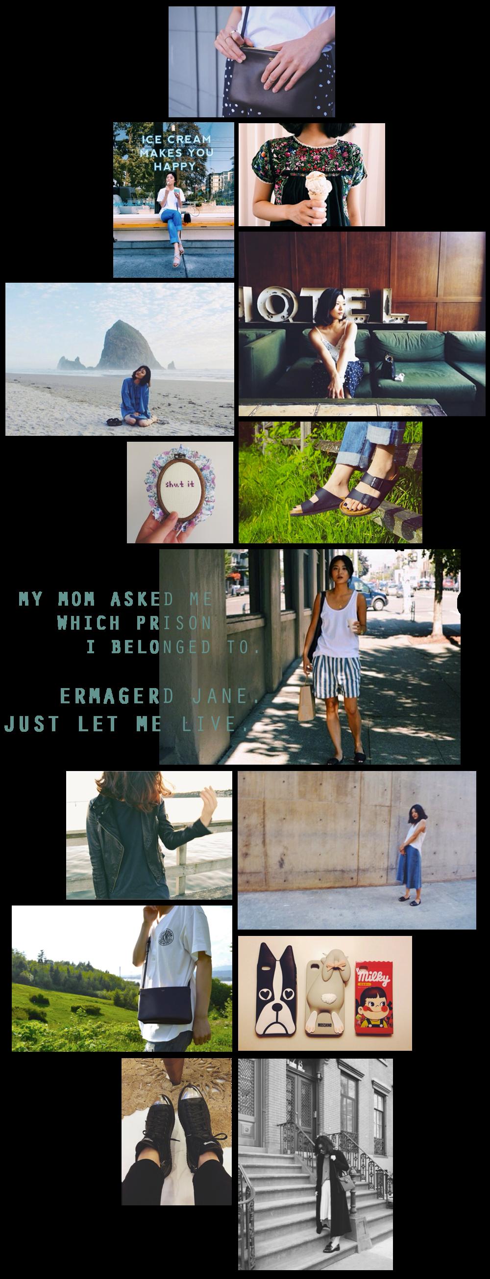 ashley park instagram collage