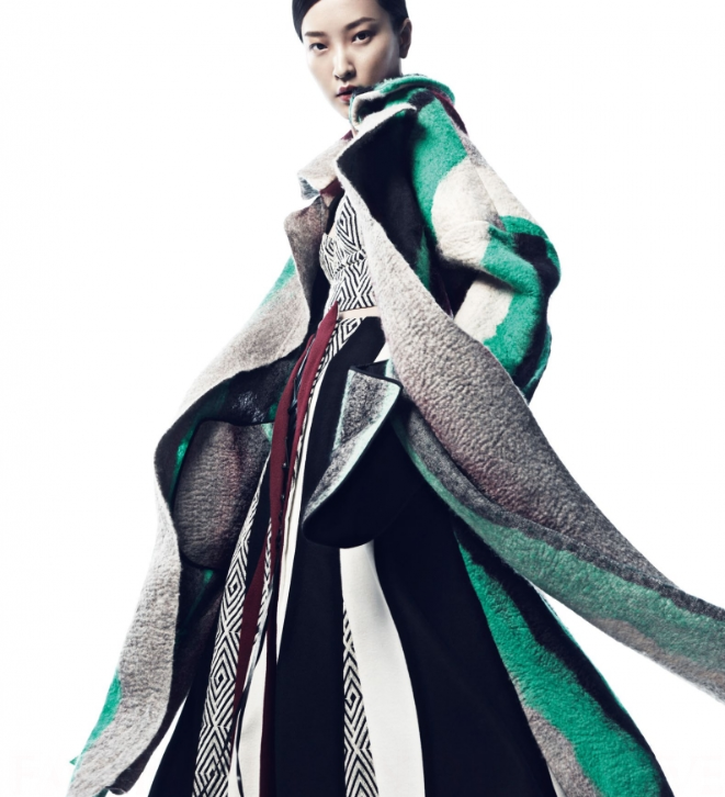 vogue china november 2014 du juan by yin chao