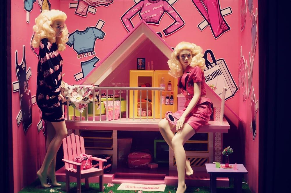 moschino barbie window dispaly