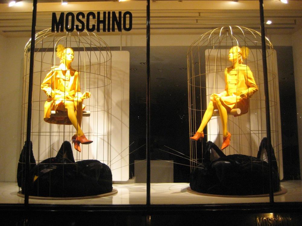 moscino tweety window display