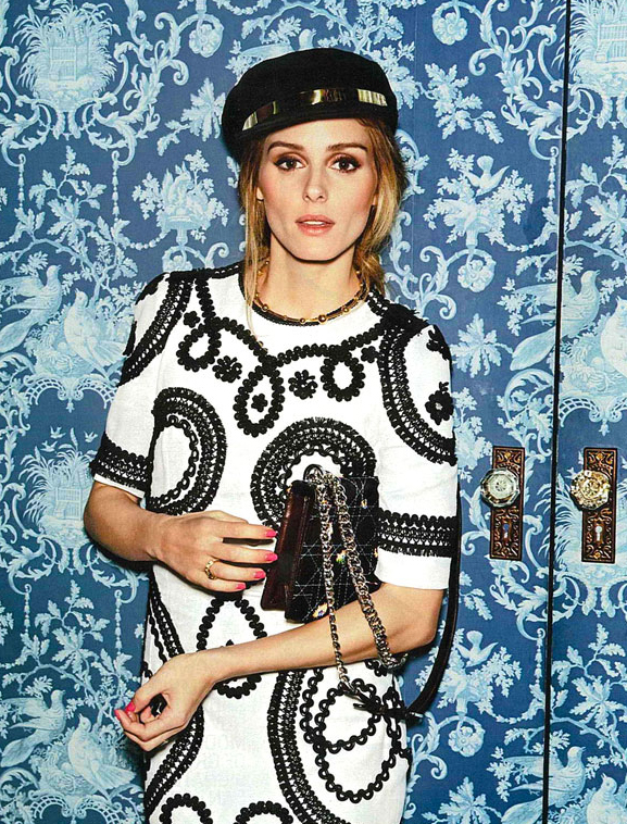 olivia palermo in dolce & gabbana with passementerie detail for cosmopolitan