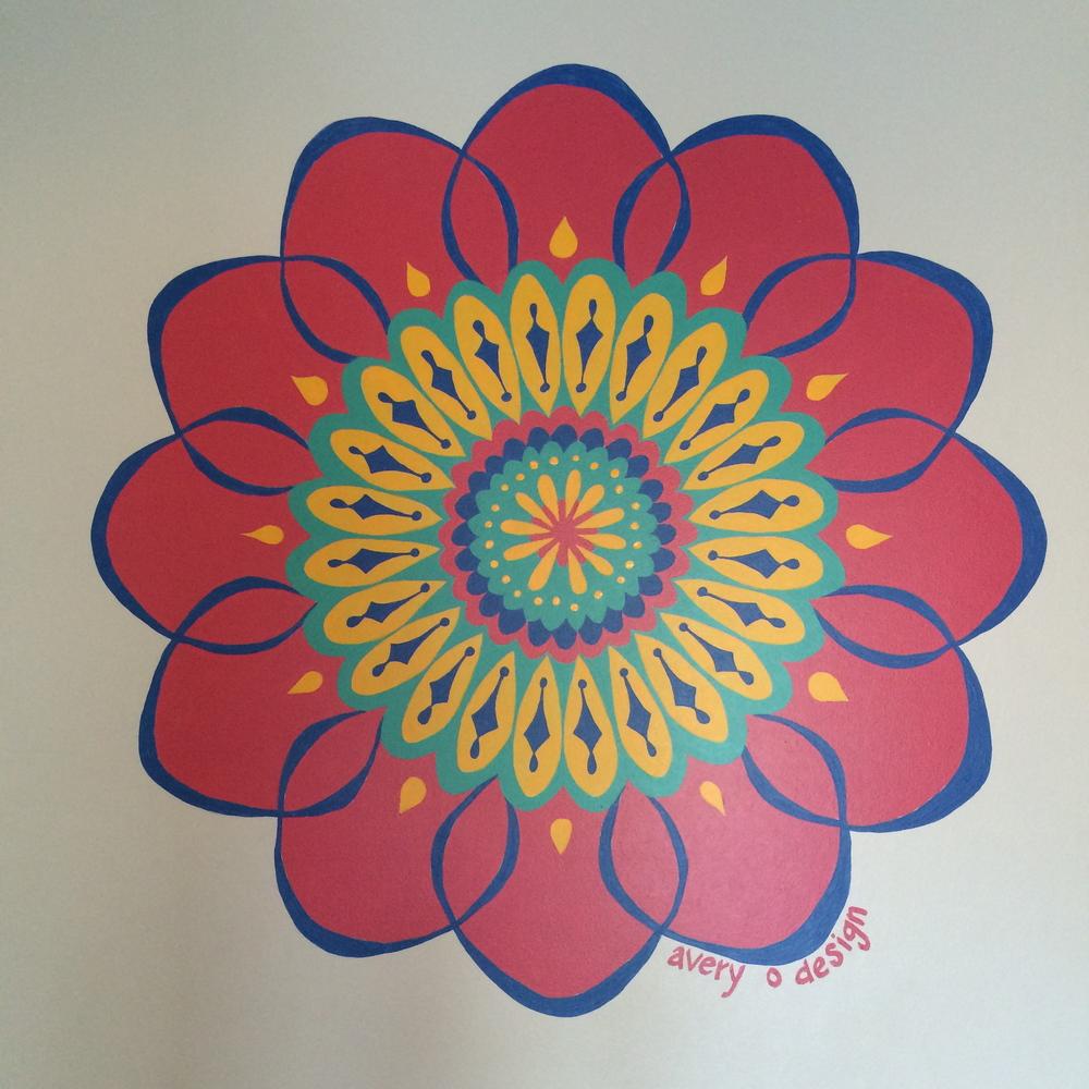 Mandala mural 1