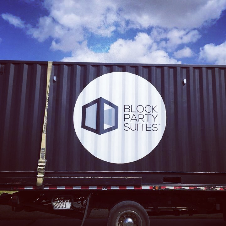 Block Party Suites shipping container, mobile