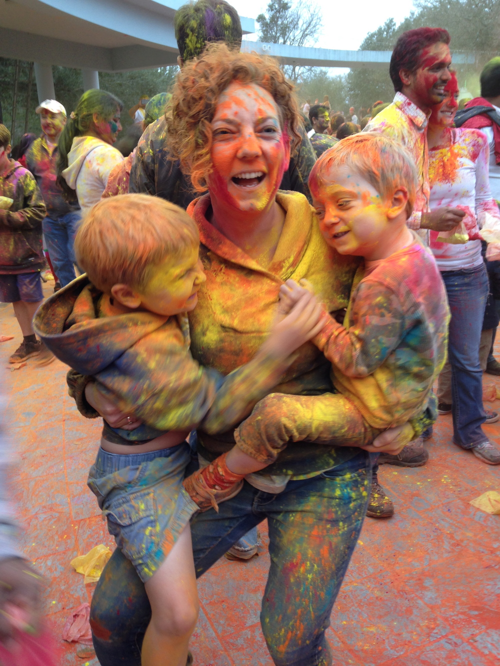 Playing with color at holi