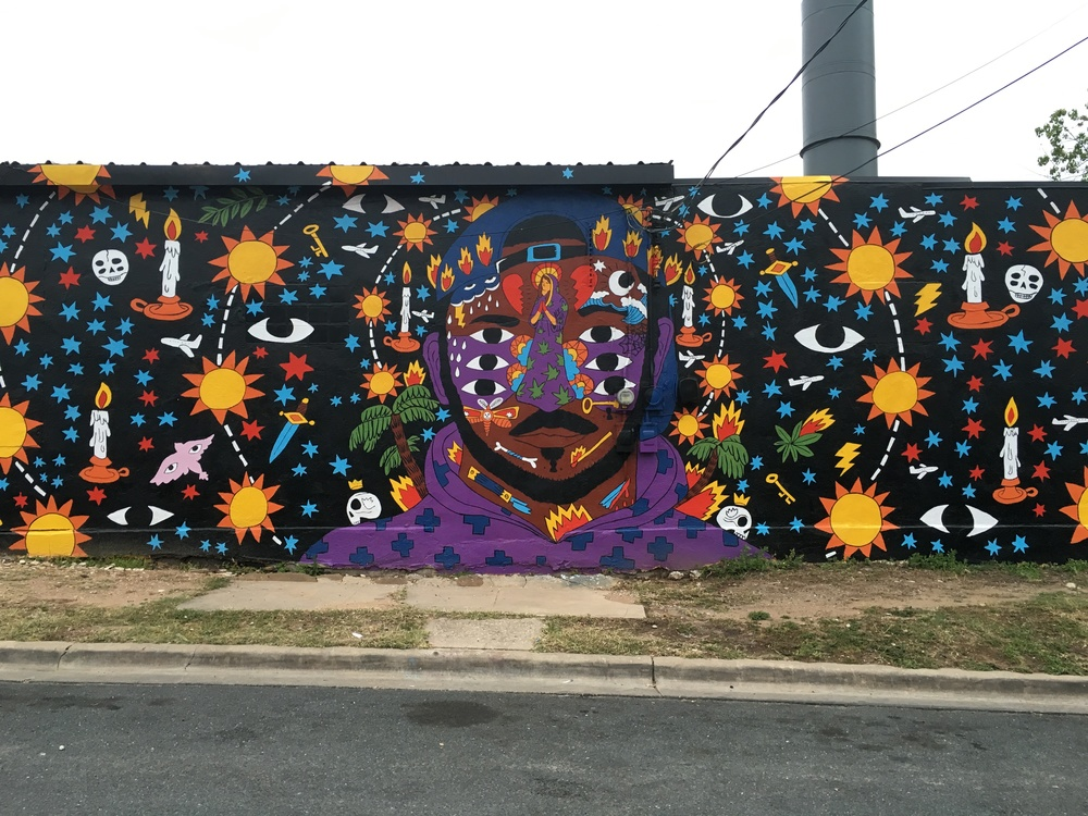 SXSW mural for Kaytranada album release