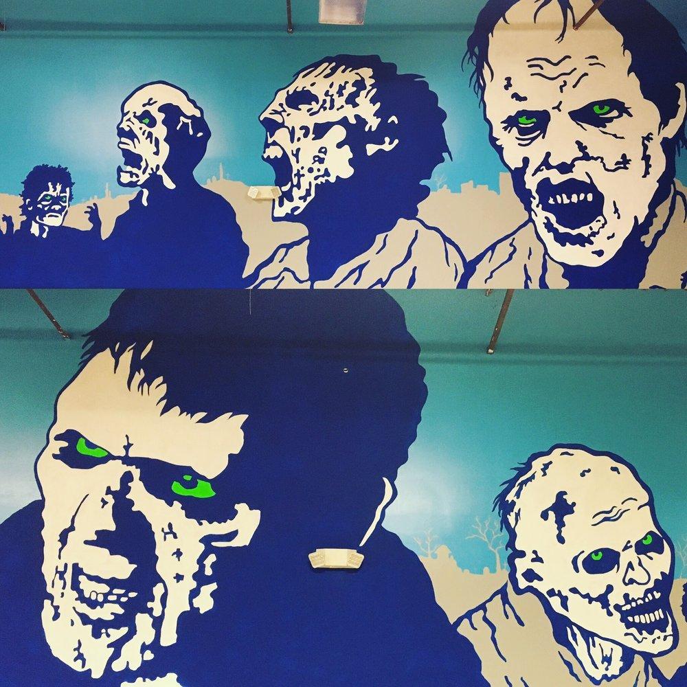 Dart'Em Up Nerf Gun Arena, zombie room