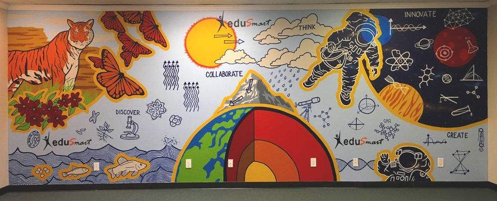 EduSmart Office Mural
