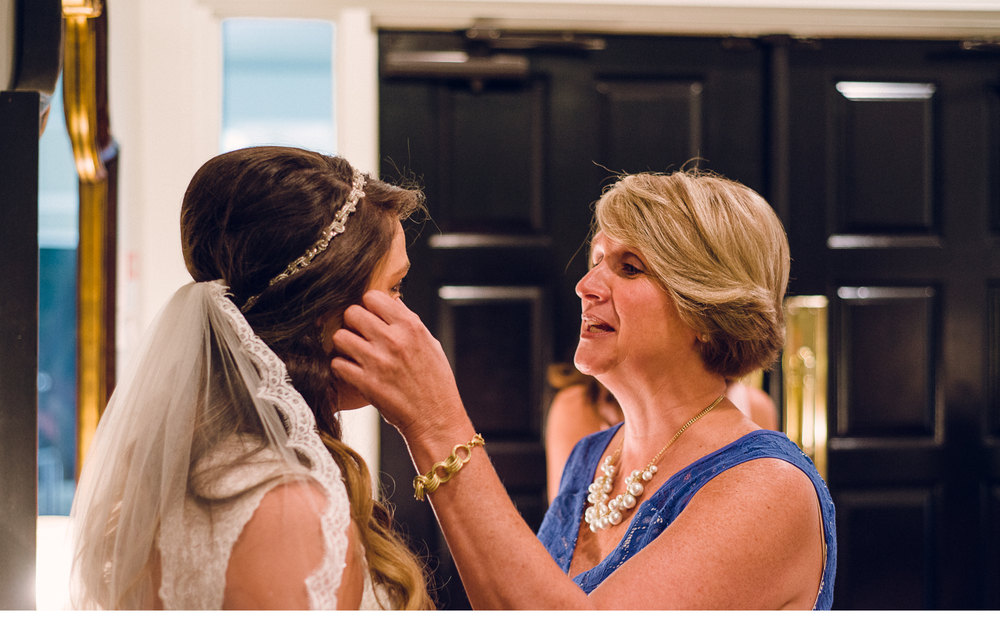 Mom Wiping Bride's Tears