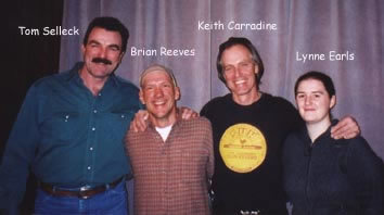 mixing engineer/producer Brian Reeves with Tom Select, Keith Carradine & Lynne Earls
