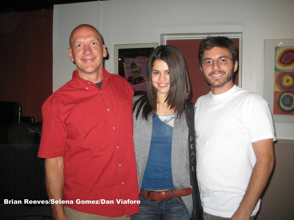 mixing engineer/producer Brian Reeves with Selena Gomez and Dan Viafore