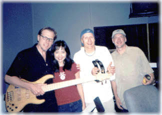 mixing engineer/producer Brian Reeves with Matt Bissonette, Mari & Gregg Bissonette