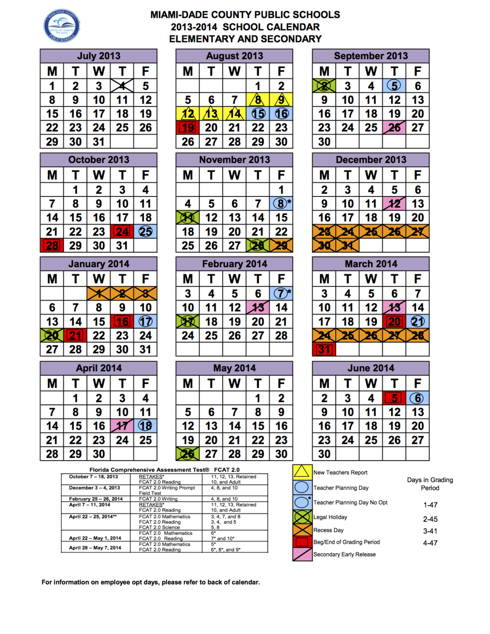 Please review our school calendar for any updates or changes.