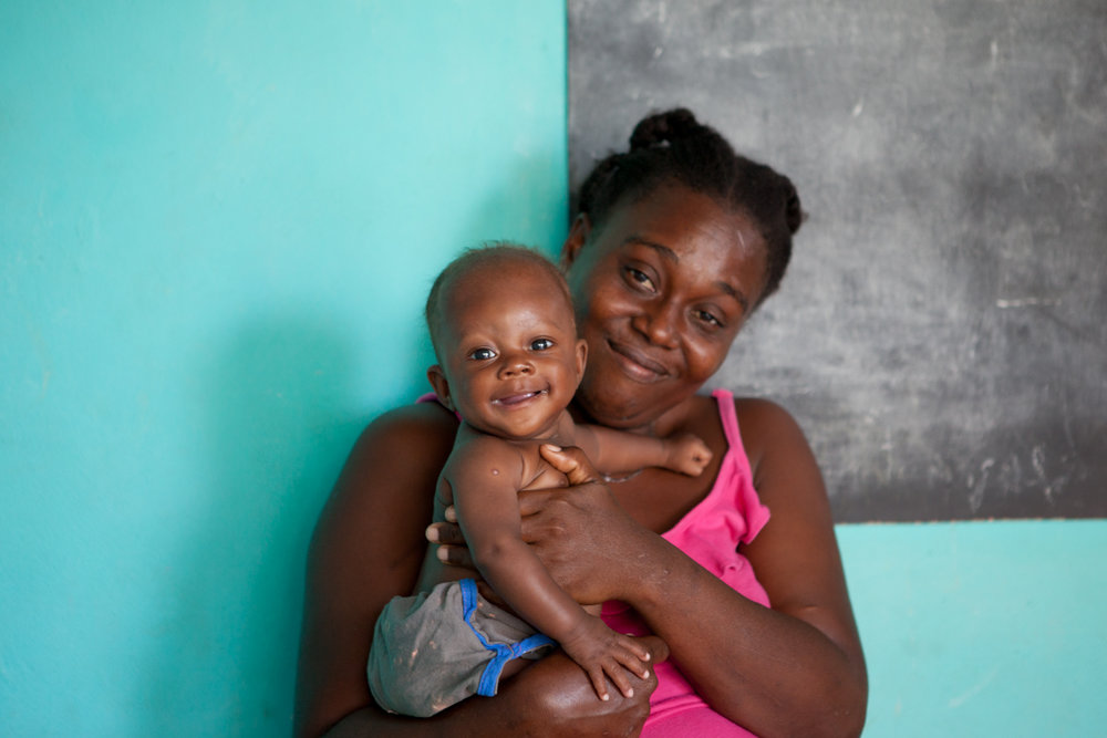 Follow-up visits to  Second Mile Haiti  ensure that both mom and child continue to thrive, even after the program.
