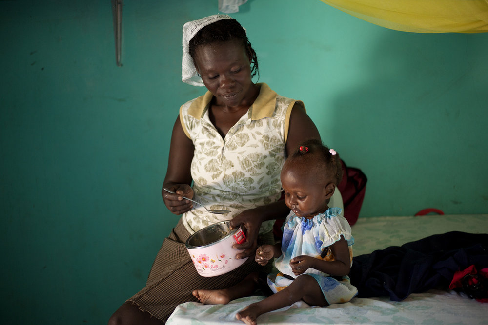 Currently, 1 in 5 children in Haiti are malnourished, 1 in 10 are acutely malnourished and 1 in 14 will die before reaching the age of 5.  Many children in Haiti have one meal per day, some less.