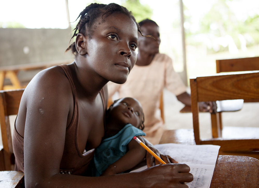 During education classes and one-on-one sessions, caregivers learn that prevention of malnutrition begins with family planning, prenatal care, breastfeeding, and improved hygiene and sanitation
