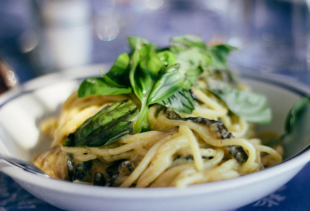 The dish of Nerano - Zucchini Spaghetti