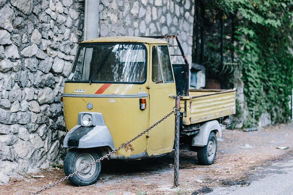Jesse's dream ride - the Piaggio (no joke).