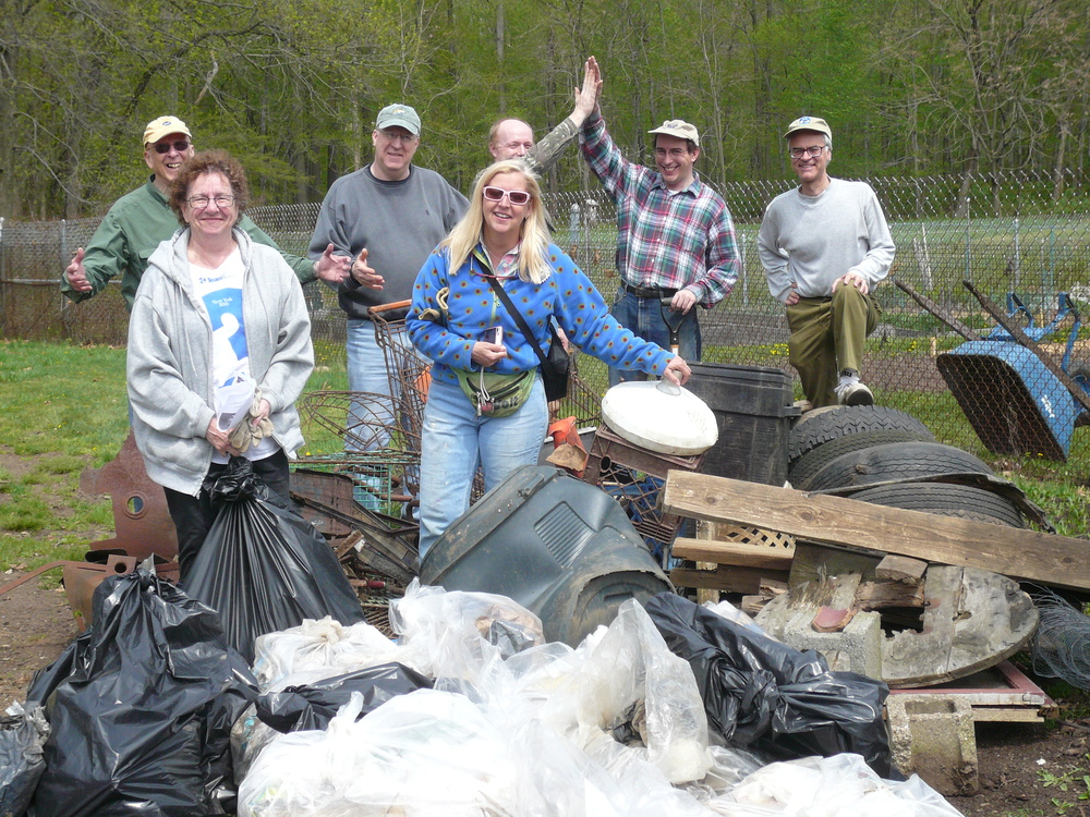 Some other volunteers at the Whippany River clean up.  Thats a lot of garbage!