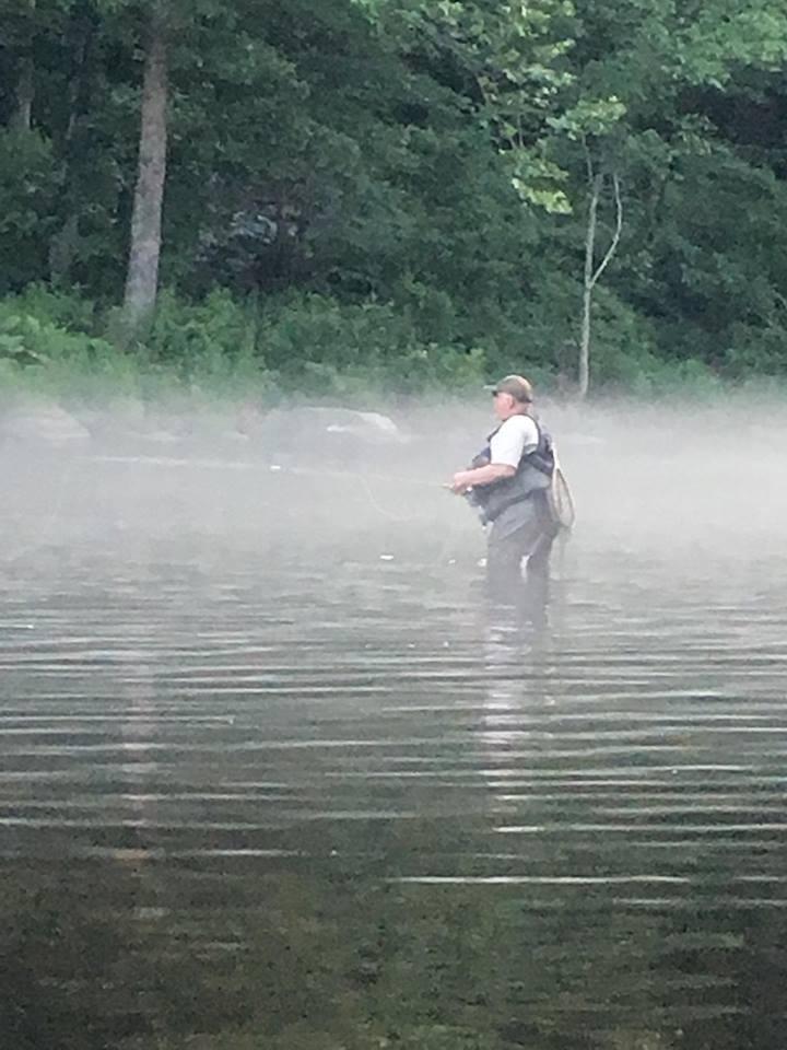 Mike fishing th Farmington.