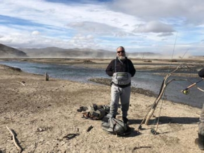 Tim in the high desert of Patagonia.