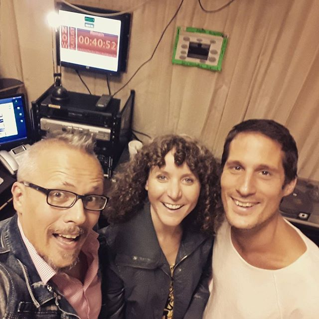 8am Studio fun time with #sunriseorange! Danke schoen for the interview and fun time on air Christoph! #radioorange94 #vienna